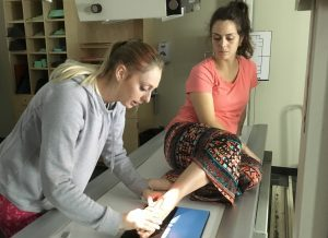 Rad tech students practice imaging skills;