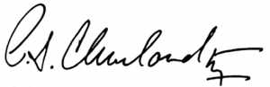 Dr Cleveland Signature