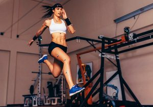 A treadmill test in exercise scienc lab.